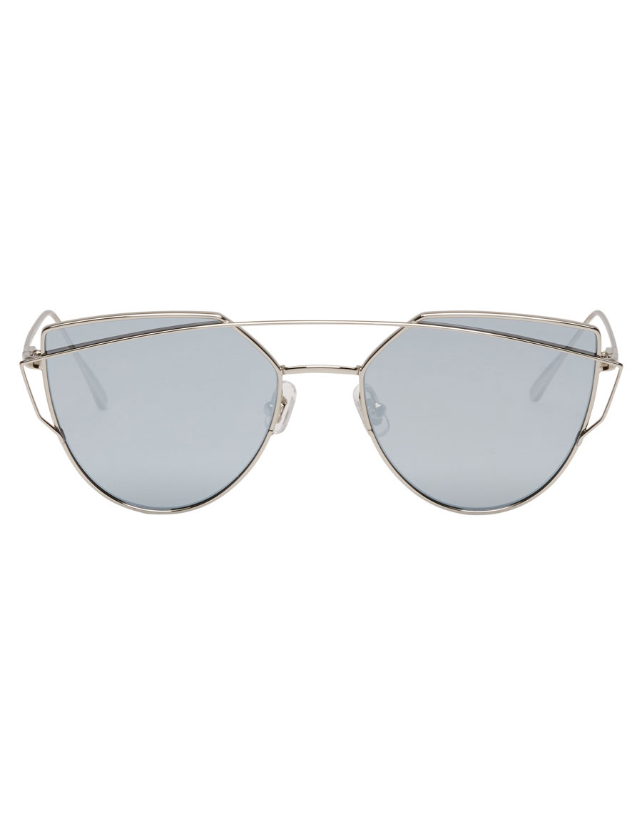 GENTLE MONSTER Silver & Blue Love Punch Sunglasses