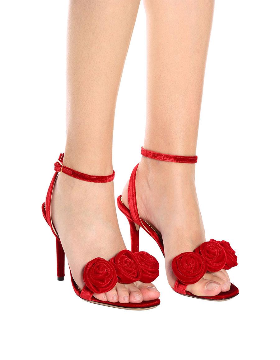 CHARLOTTE OLYMPIA Rositta velvet sandals
