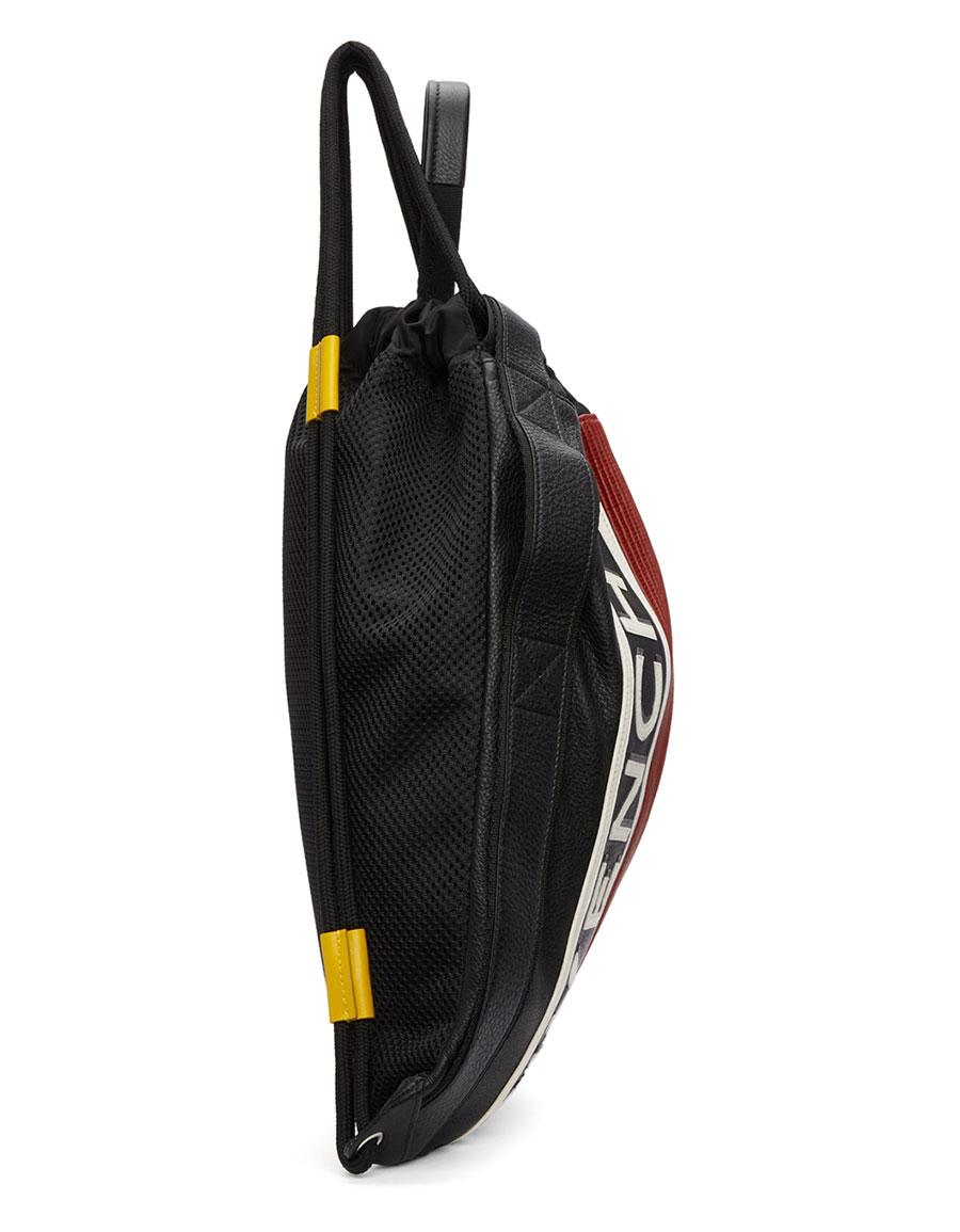 GIVENCHY Black & Red MC3 Drawstring Backpack