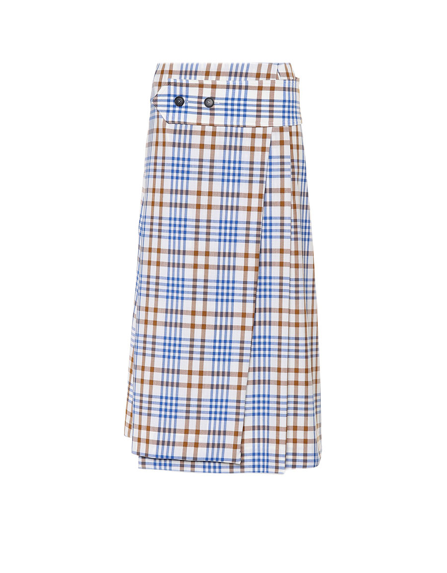 VICTORIA BECKHAM Checked wool and mohair skirt