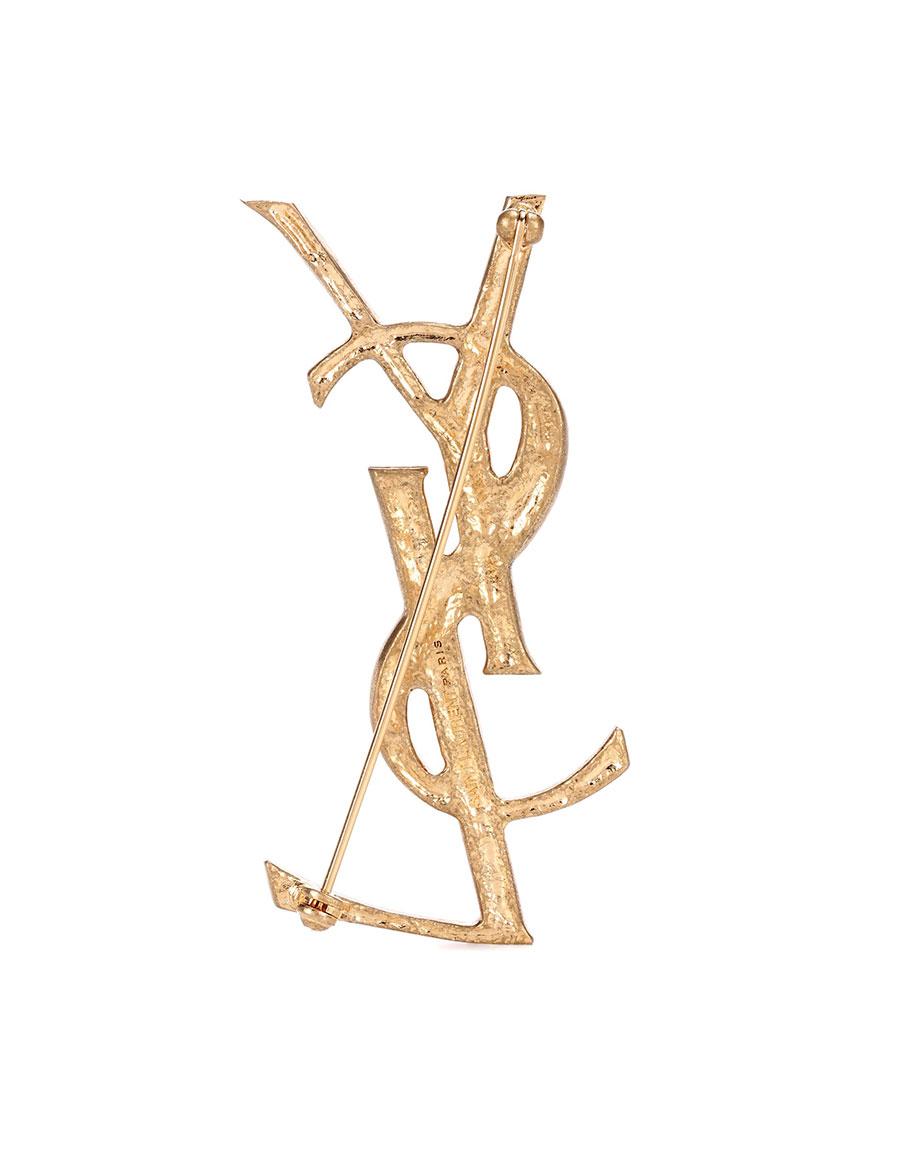 SAINT LAURENT Opyum YSL engraved brooch