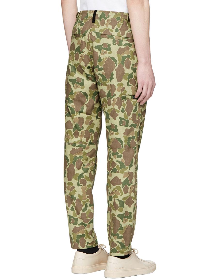 RAG & BONE Green Camo Field Trousers