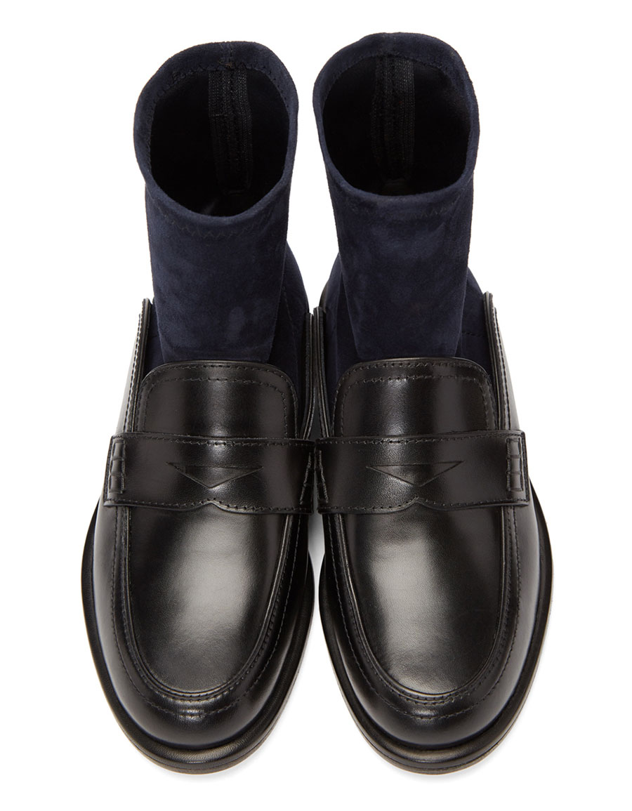 LOEWE Black & Navy Sock Boots