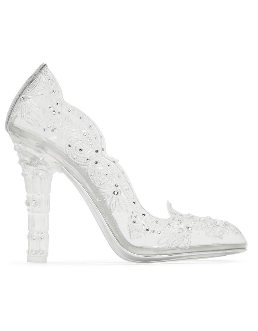 DOLCE & GABBANA Silver Crystal Cinderella Pumps