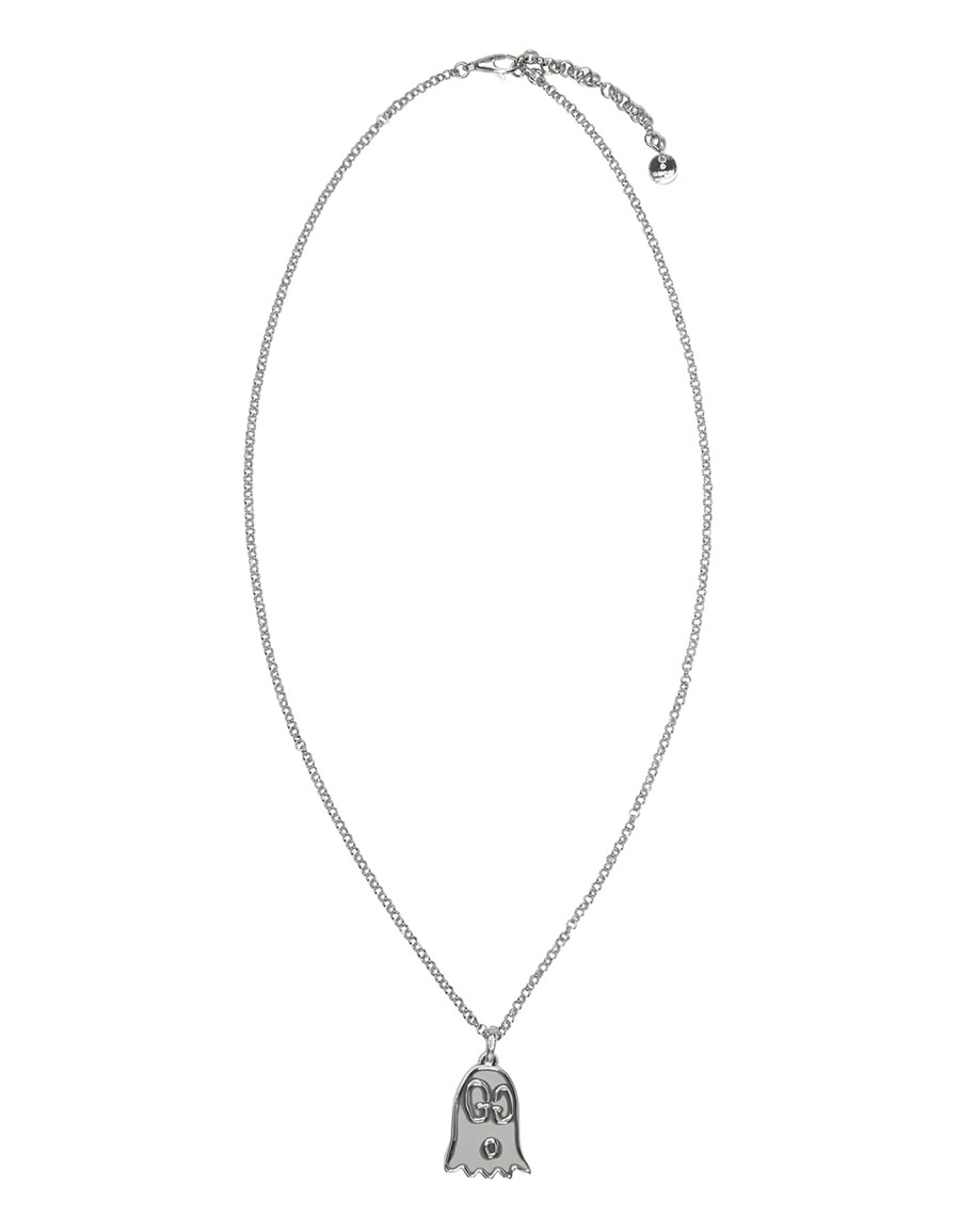 GUCCI Silver Ghost Necklace