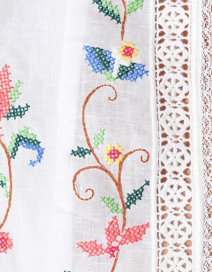 ZIMMERMANN Laelia cross stitched top