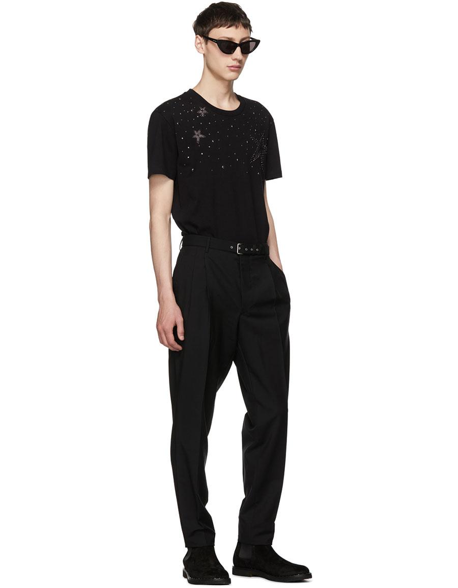 VALENTINO Black Star Stud T Shirt