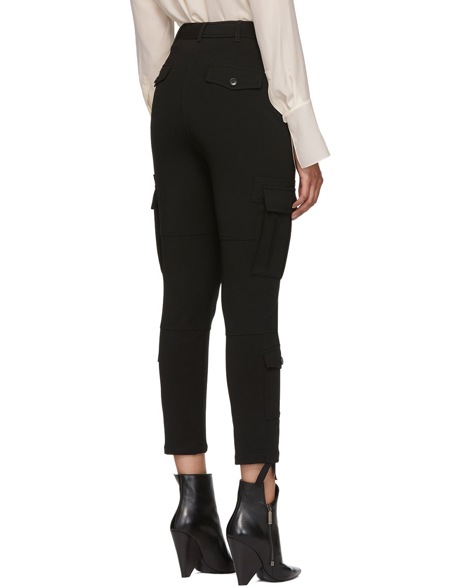 ALTUZARRA Black Cargo Pocket Trousers