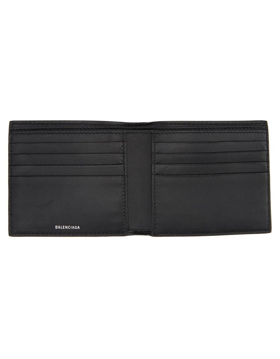 BALENCIAGA Black Logo Everyday Wallet