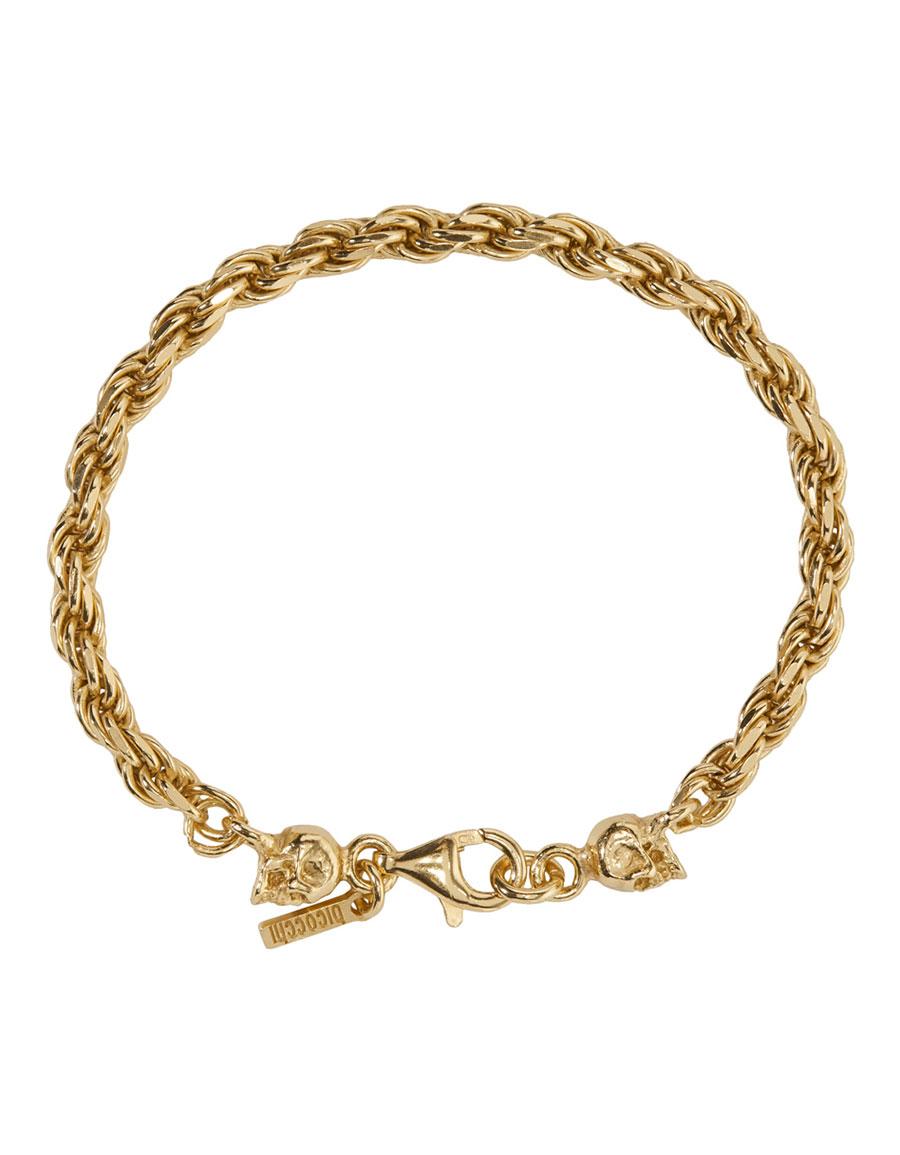 EMANUELE BICOCCHI SSENSE Exclusive Gold Birdcage Skull Bracelet