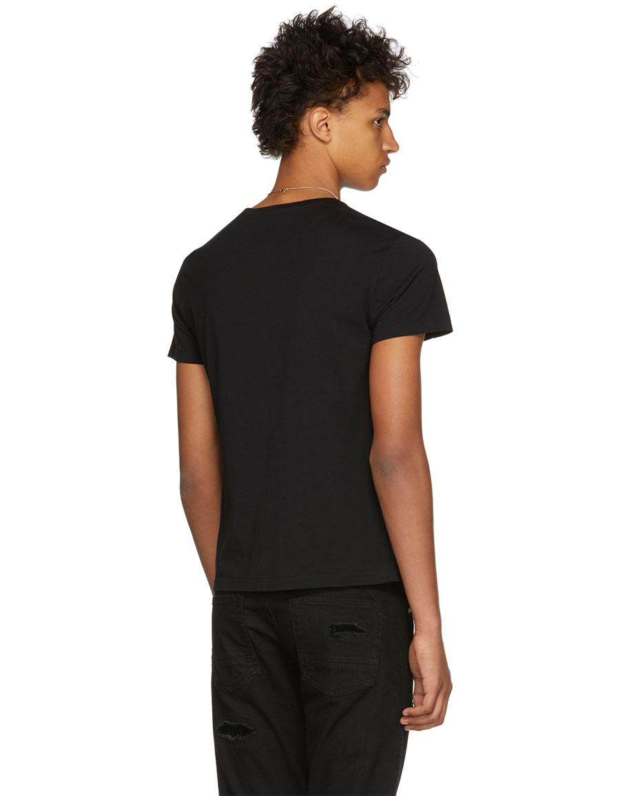 ALEXANDER MCQUEEN Black Patchwork Skull T Shirt