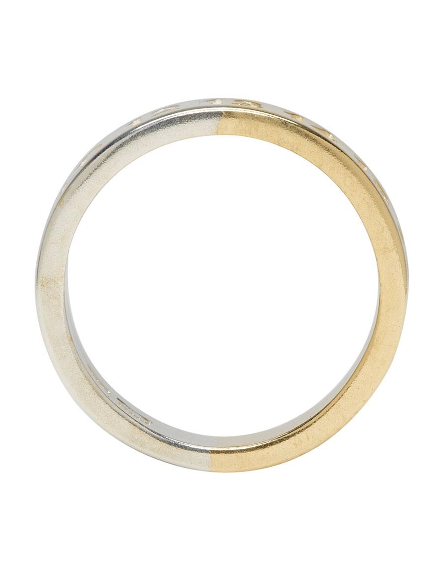 MAISON MARGIELA Silver & Gold Logo Ring