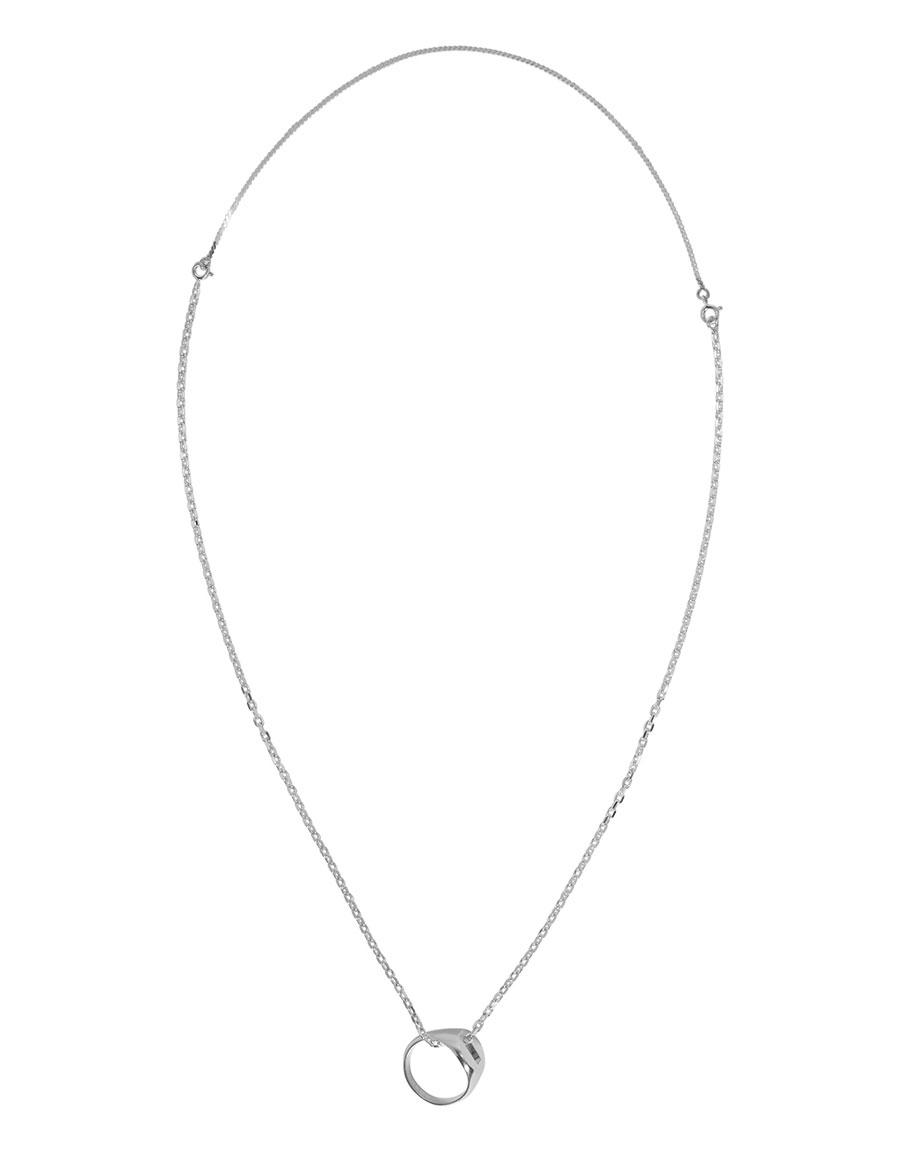 MAISON MARGIELA Silver Ring Necklace