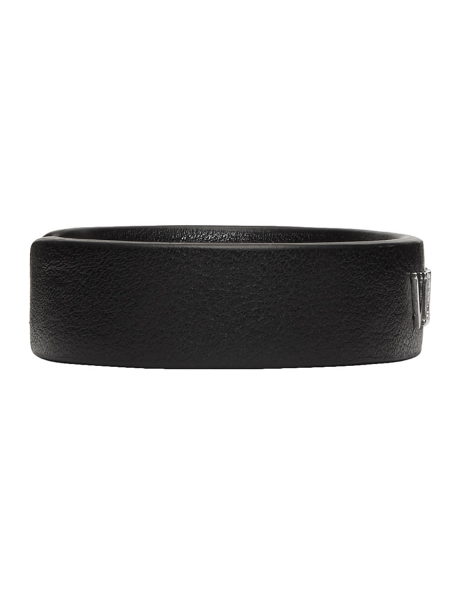 VALENTINO Black Valentino Garavani Leather Cuff Bracelet