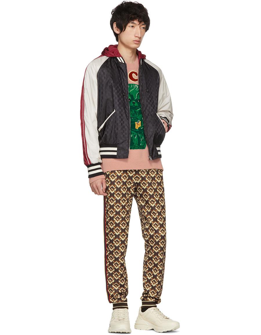 GUCCI Brown Isometric G Lounge Pants