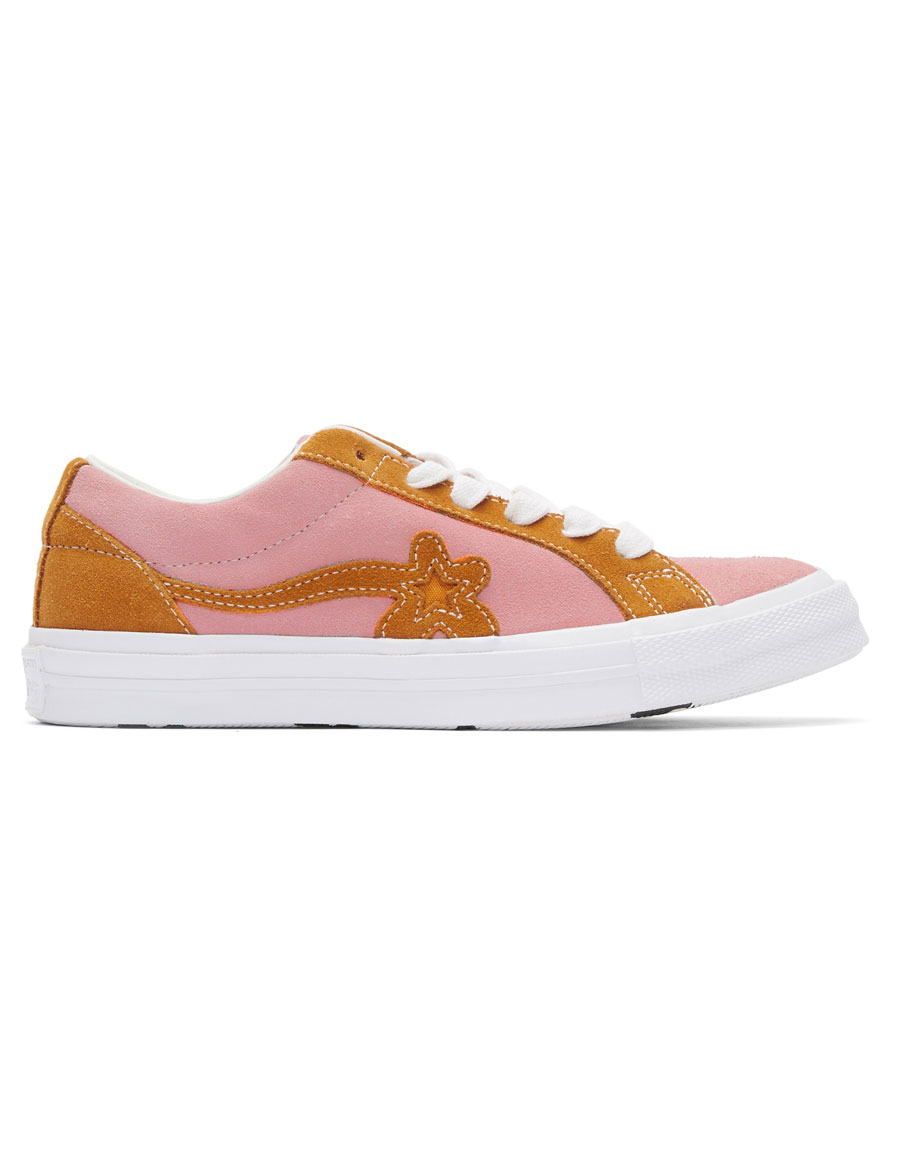 CONVERSE Pink & Orange GOLF le FLEUR* Edition GOLF 6.1 One Star Sneakers