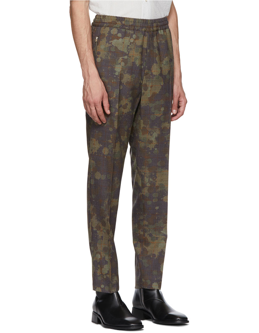 STELLA MCCARTNEY Black & Grey Piet Trousers