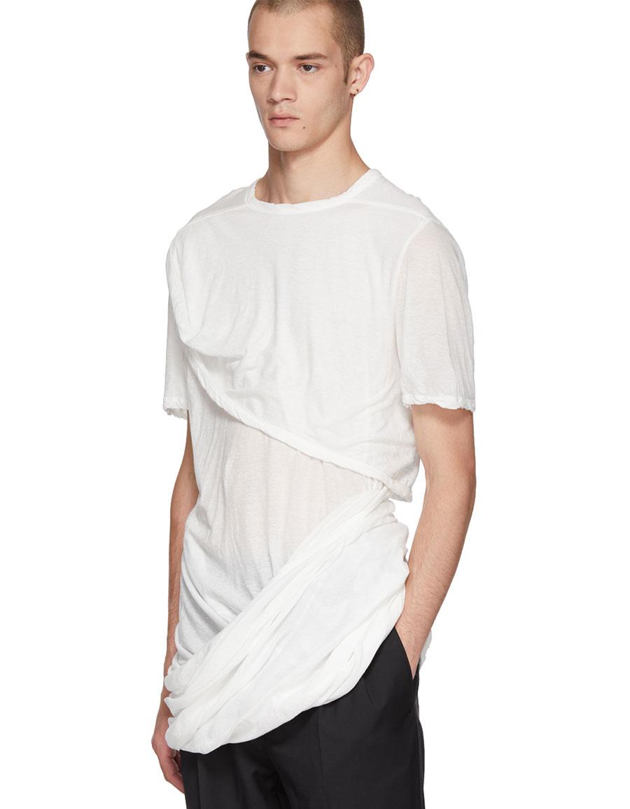 RICK OWENS White Smiley T Shirt