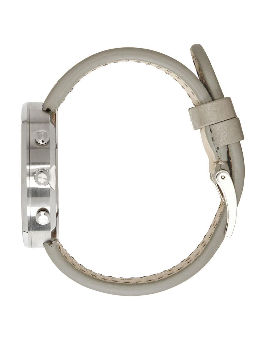 UNIFORM WARES SSENSE Exclusive Grey Leather M40 Chronograph Watch