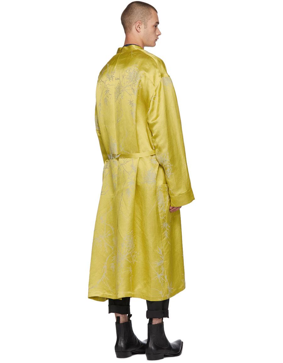 HAIDER ACKERMANN Gold Peignoir Coat