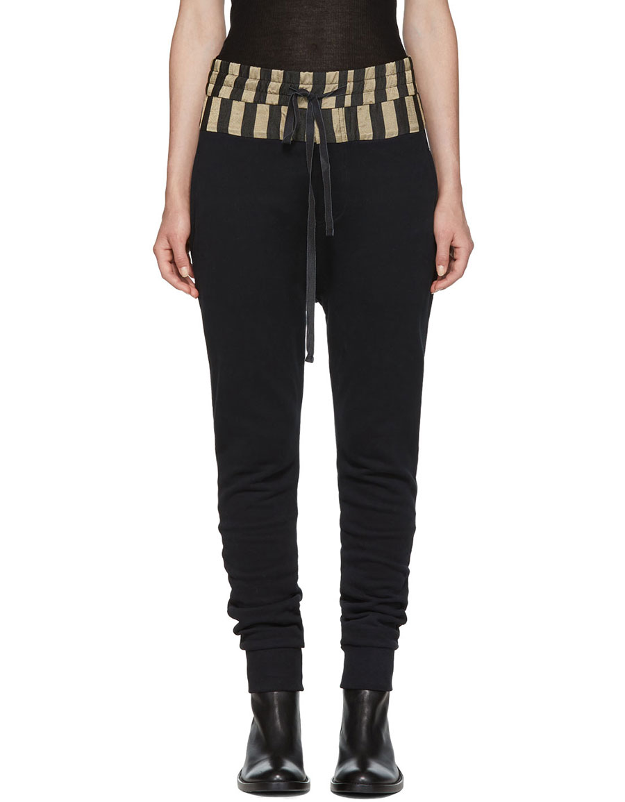 ANN DEMEULEMEESTER Black Grim Lounge Pants