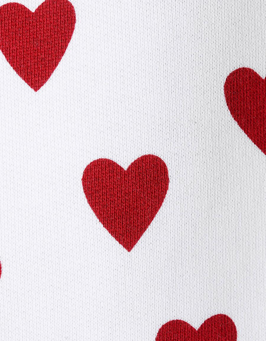 BURBERRY Heart print cotton blend sweatshirt