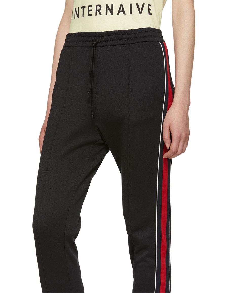 GUCCI Black Striped Lounge Pants