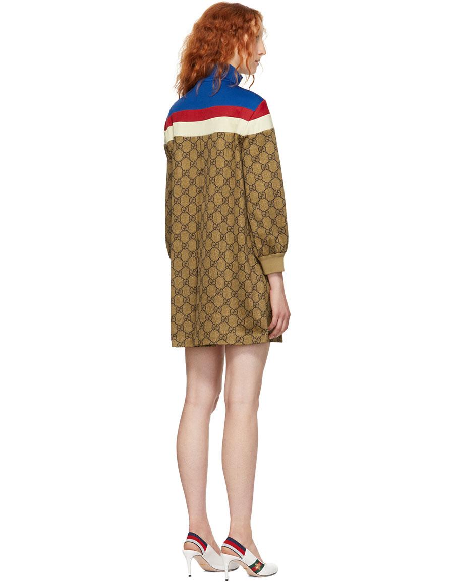 GUCCI Multicolor GG Supreme Dress