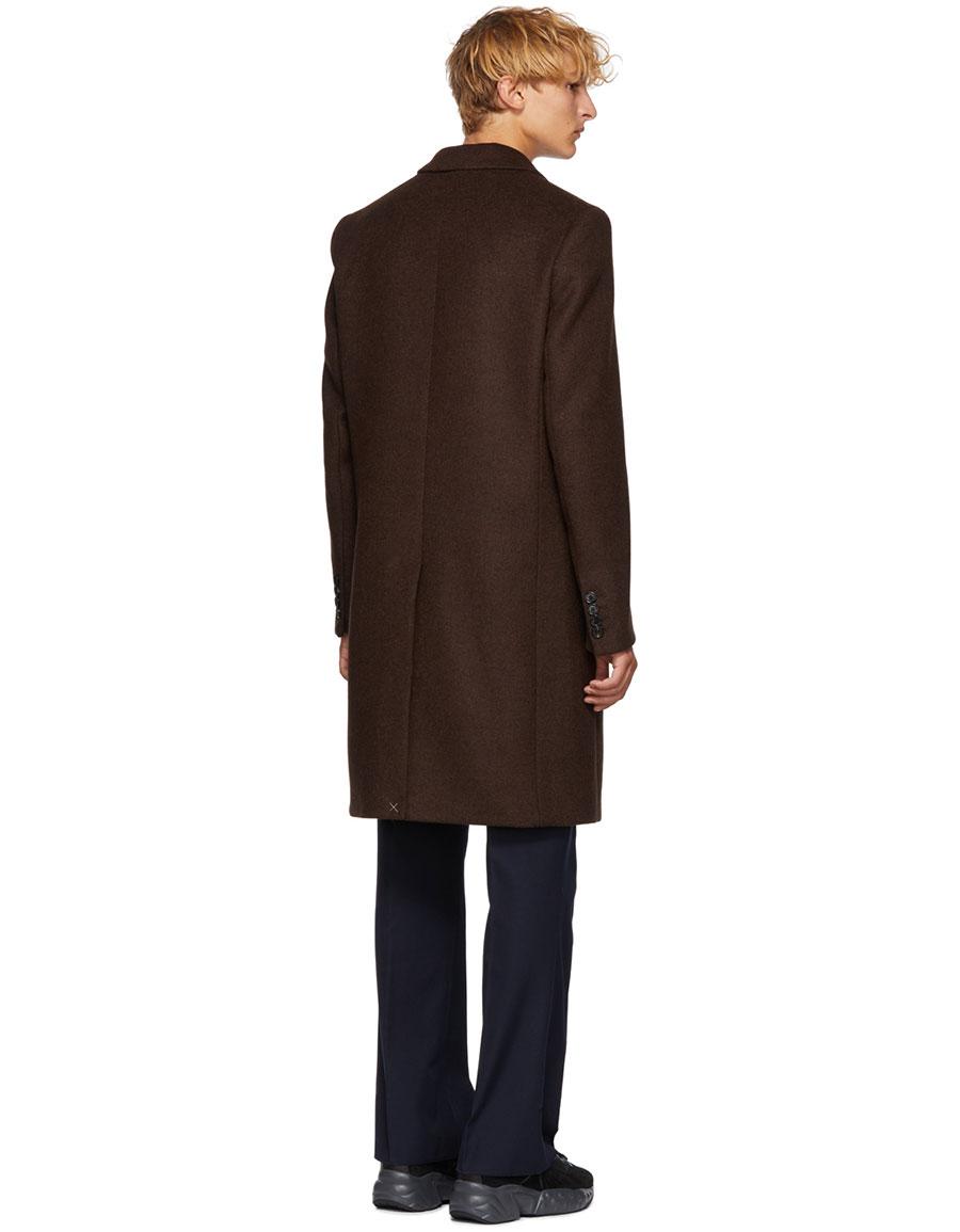ACNE STUDIOS Brown Wool Gavin Coat