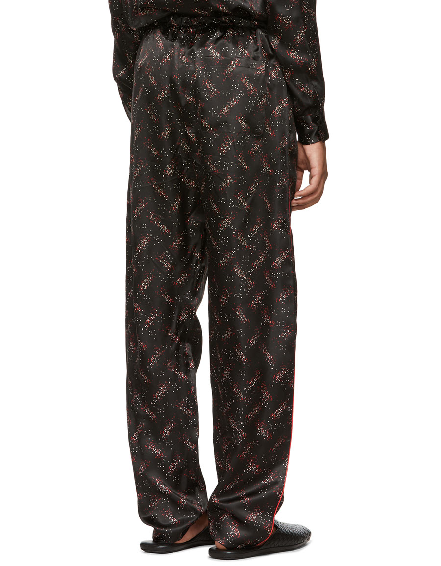 BOTTEGA VENETA Black Pixel Print Pyjama Trousers