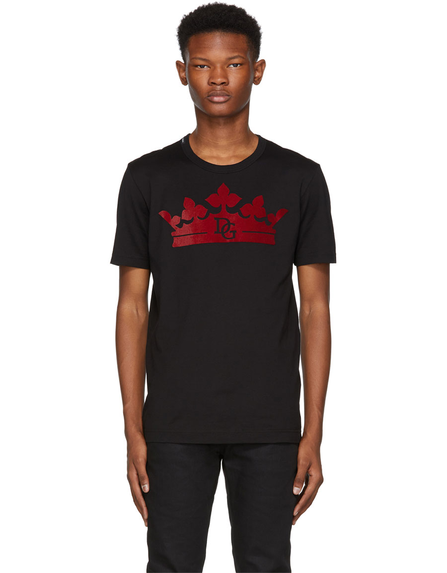 DOLCE & GABBANA Black Crown T Shirt