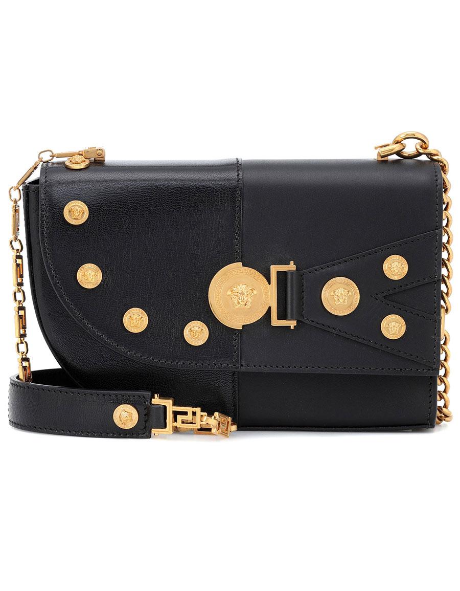 dc04420d00a1 VERSACE The Clash Medium leather shoulder bag · VERGLE