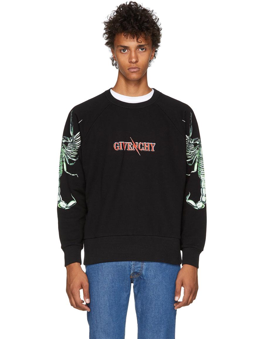 GIVENCHY Black Scorpion Logo Sweatshirt