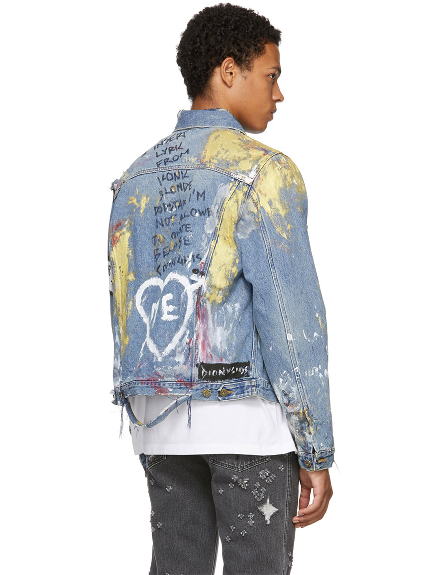 FAITH CONNEXION Multicolor Tag Denim Jacket