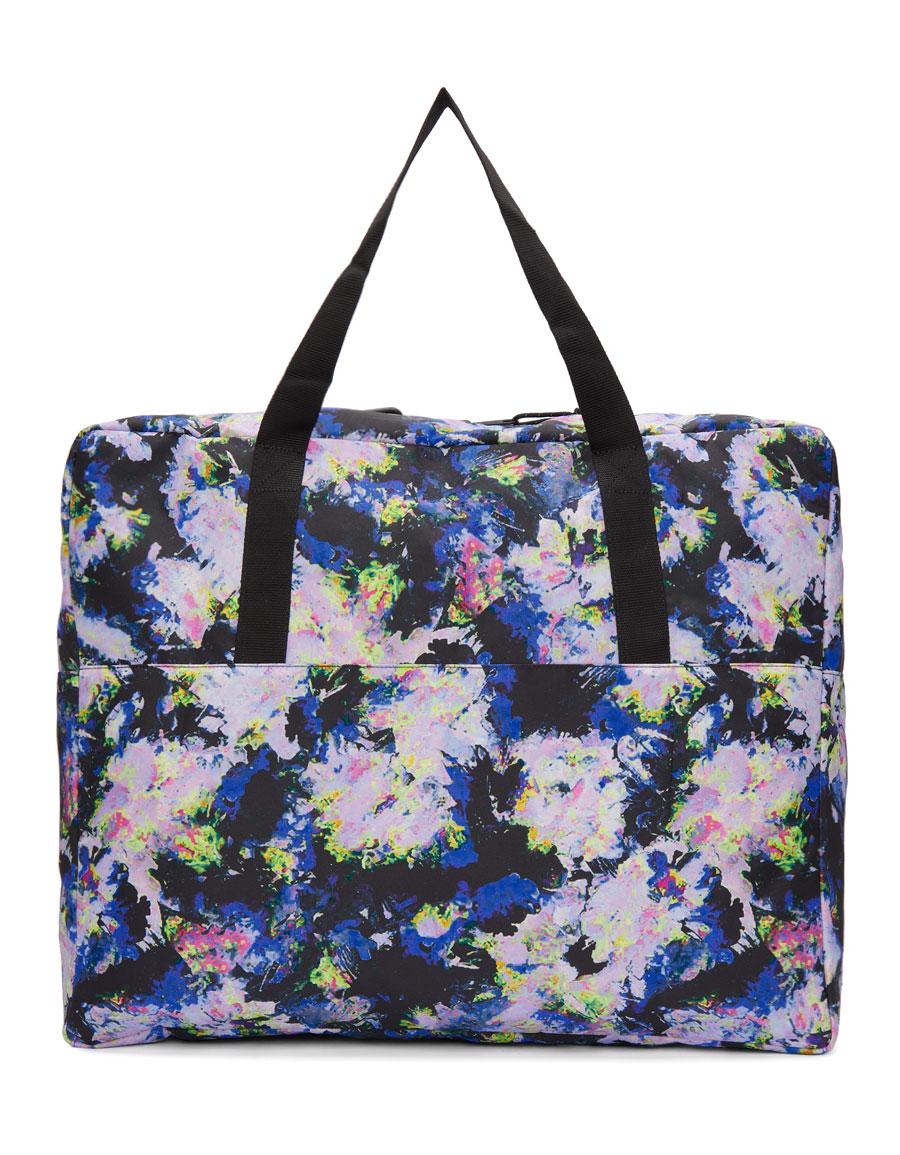 MSGM Multicolor Eastpak Edition Flowers Tote Bag