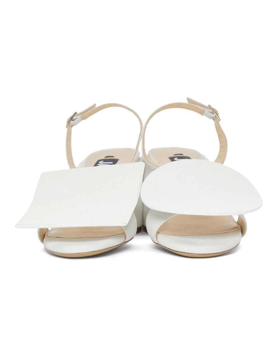 JACQUEMUS White 'Les Rond Carré' Sandals