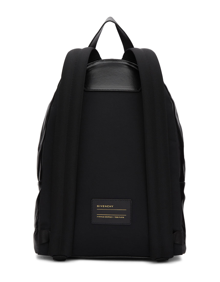 GIVENCHY Black & Yellow Fast Backpack