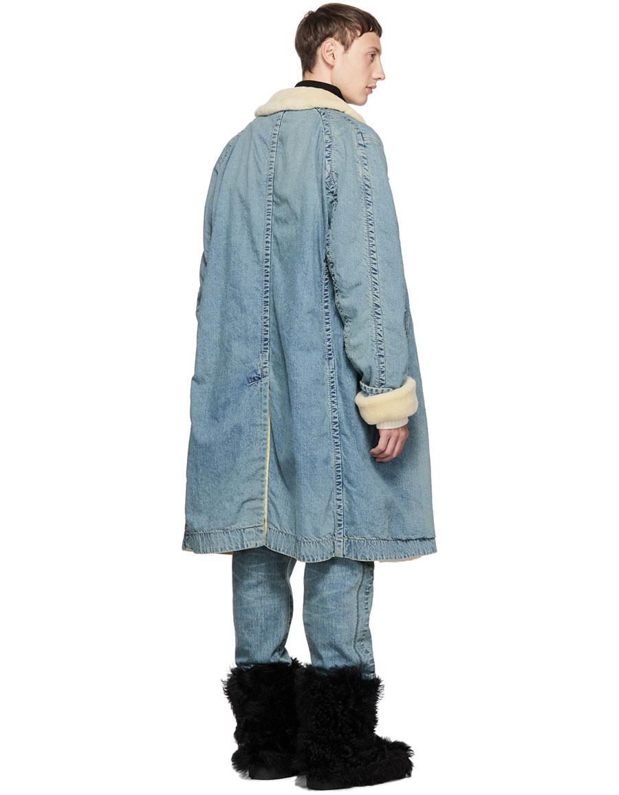 SACAI Blue Denim Coat