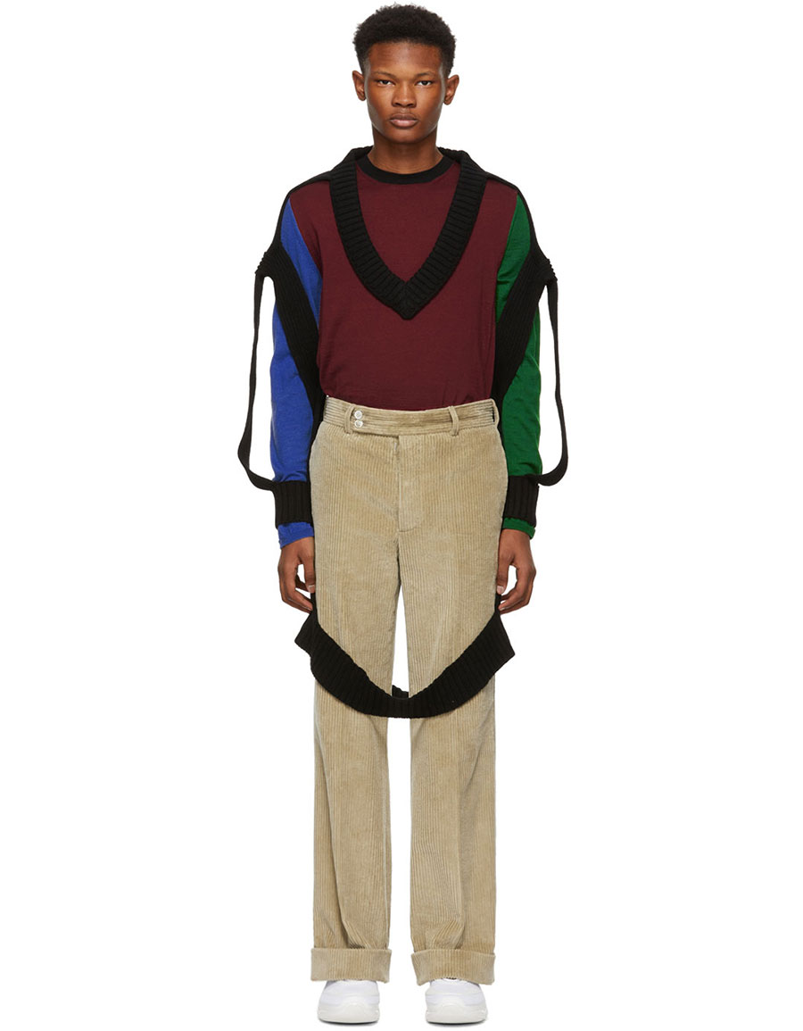 MAISON MARGIELA Black Decortique V Neck Sweater