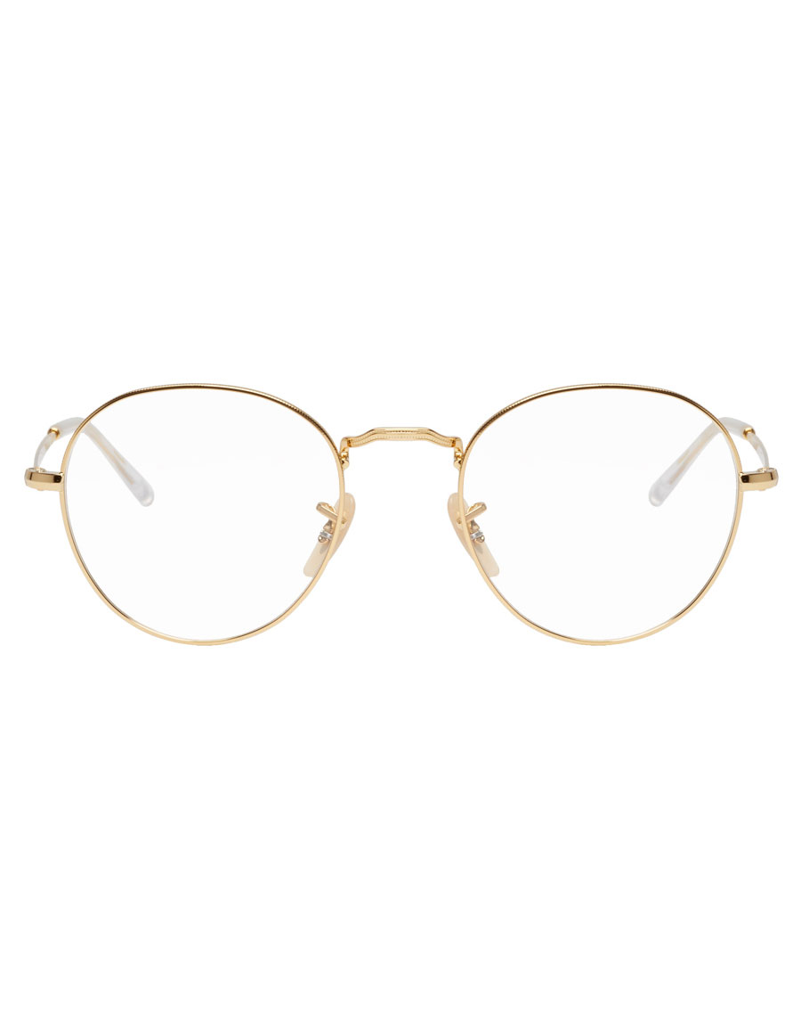 RAY BAN Gold Round Icons Glasses