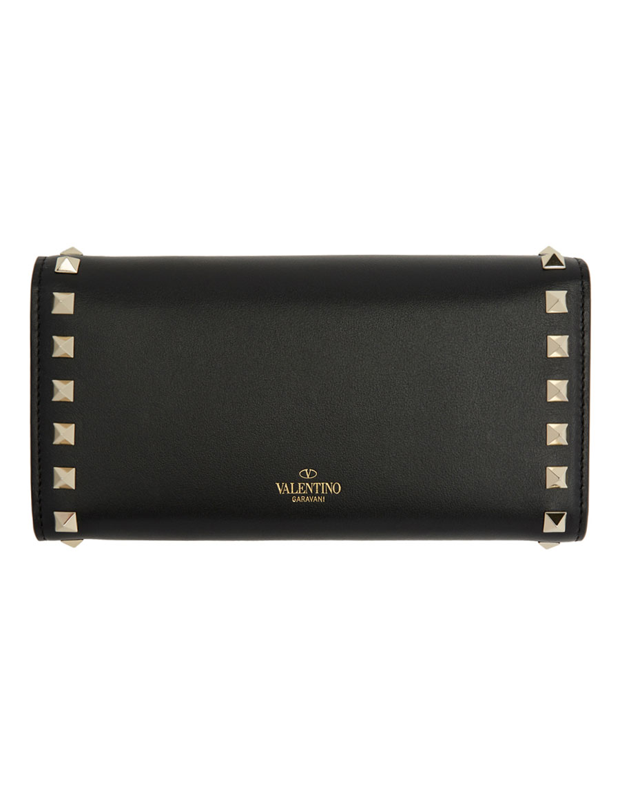 VALENTINO Black Valentino Garavani Rocktsud Wallet