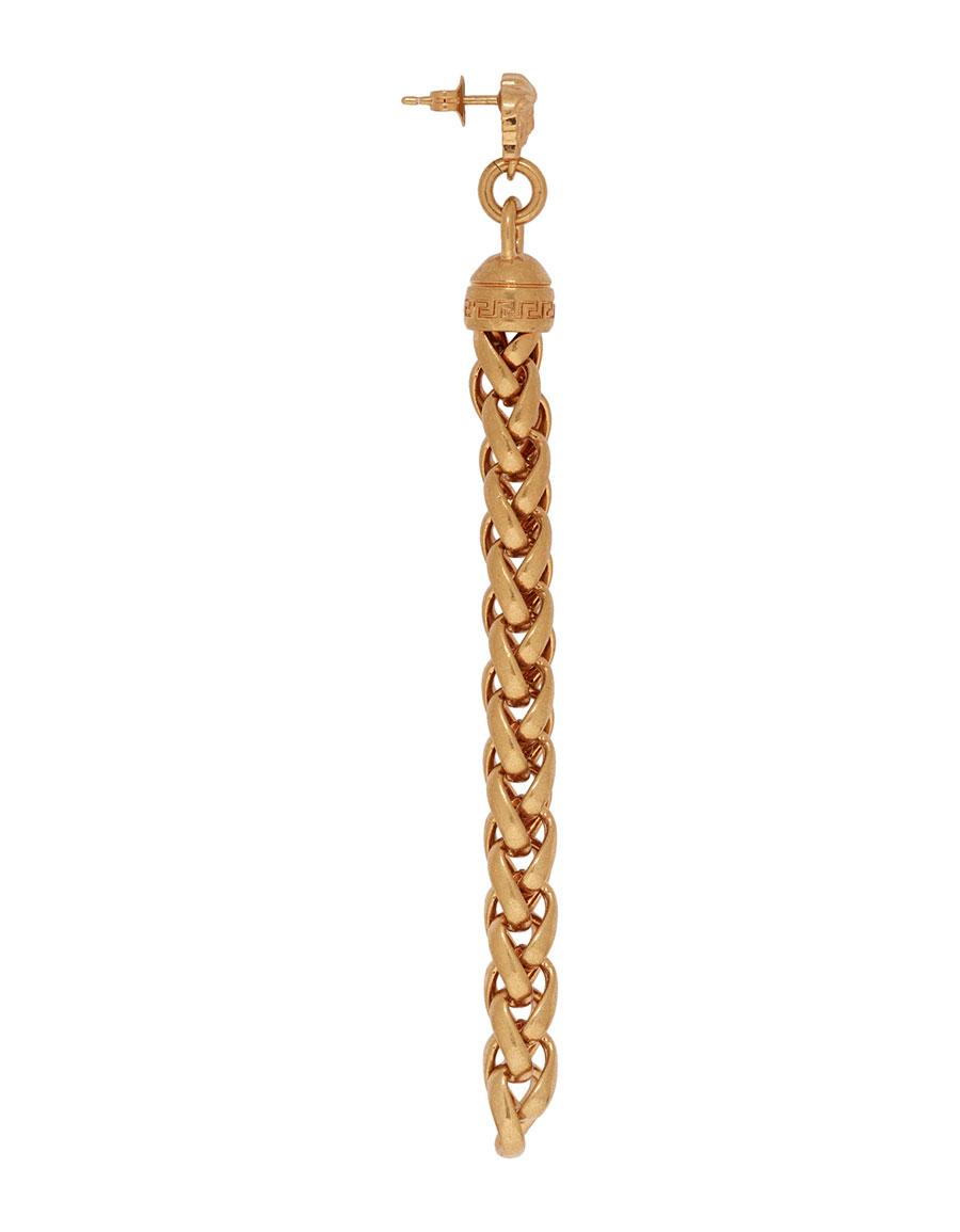 VERSACE Gold Pendant Chain Earrings