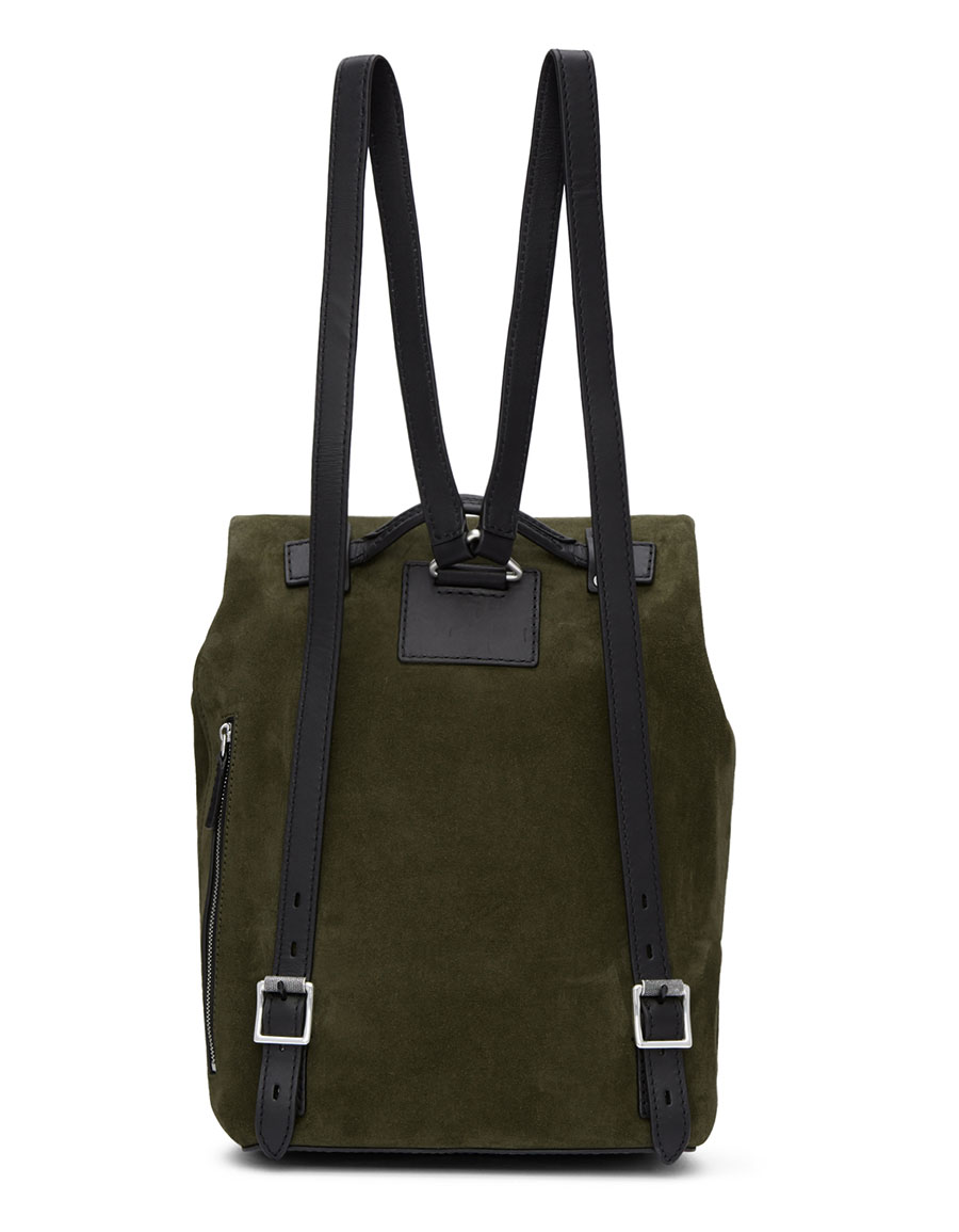 RAG & BONE Green Suede Loner Backpack