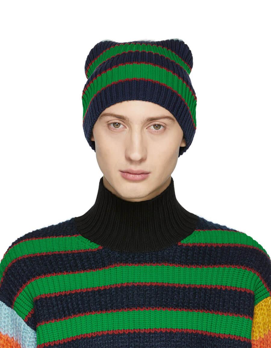 902eaaf084ab0 KENZO Multicolor Striped Memento Beanie · VERGLE