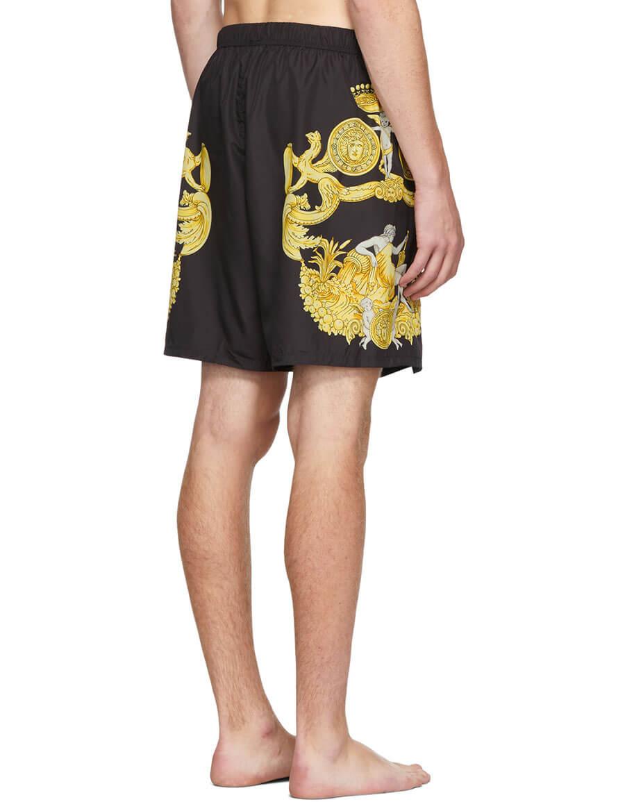 VERSACE Black Barocco Print Swimsuit