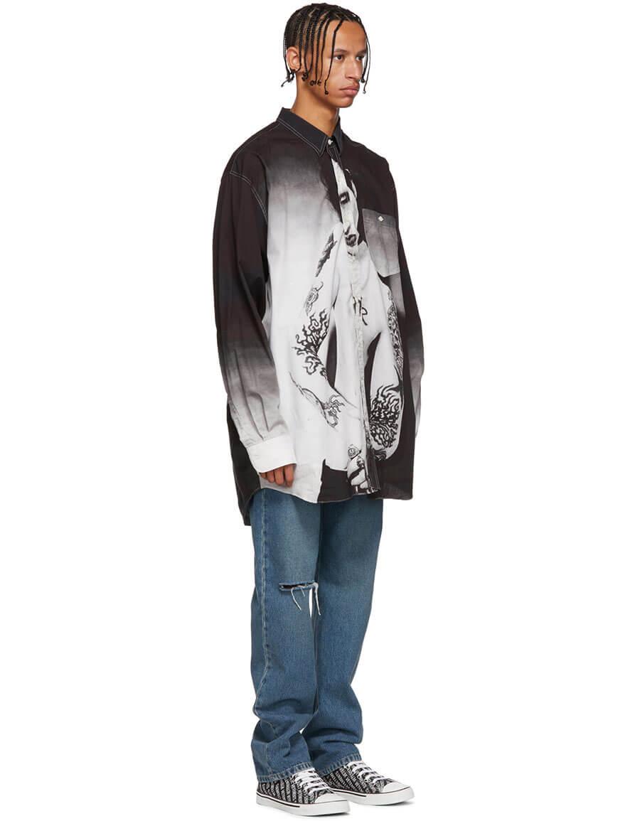 VETEMENTS Black Marilyn Manson Shirt