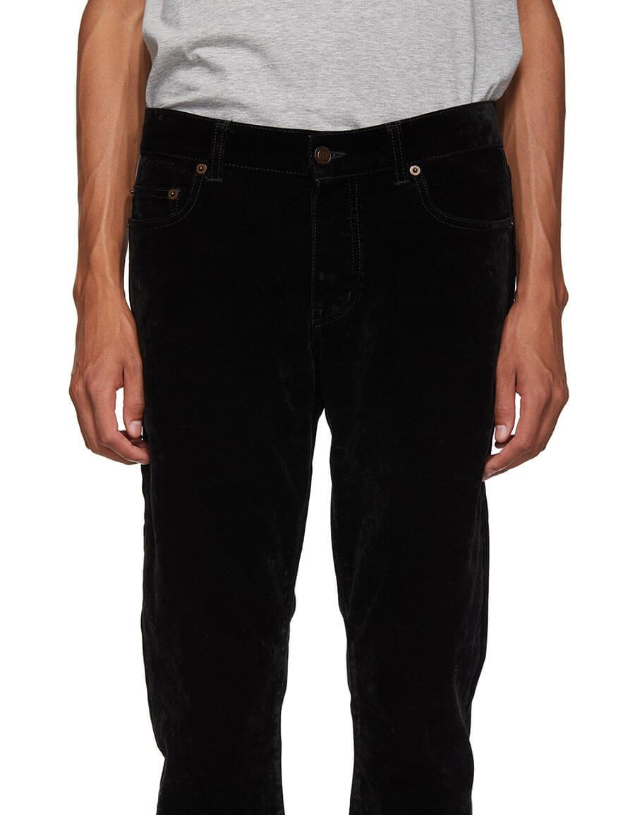 SAINT LAURENT Black Velvet Jeans