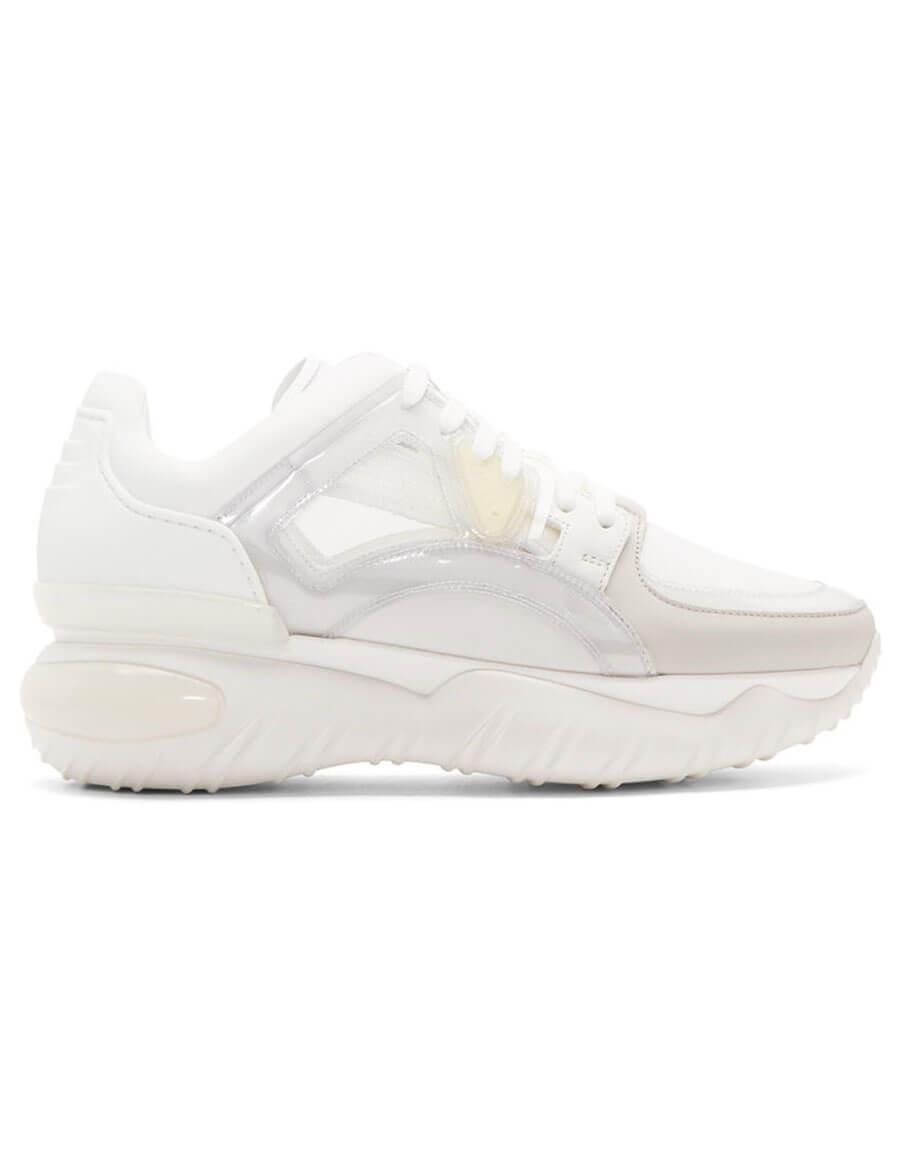 FENDI White Runner Sneakers