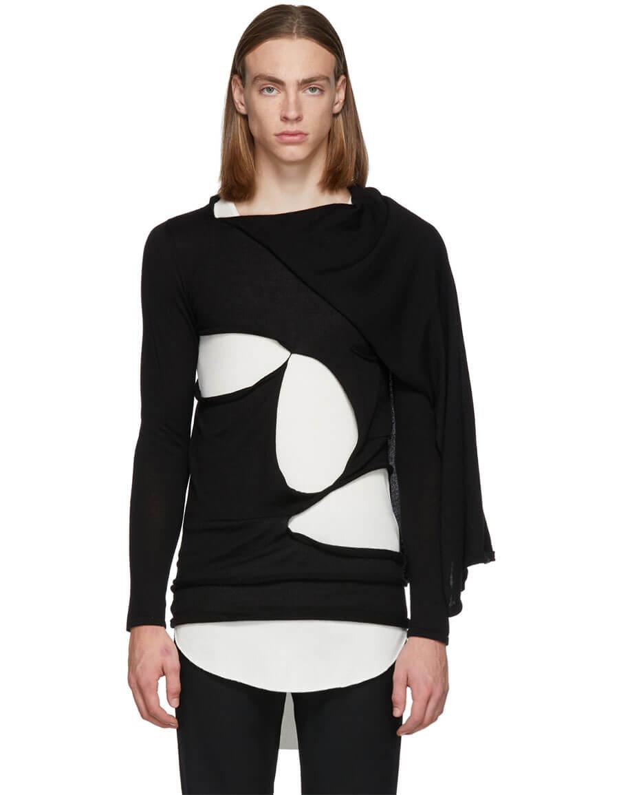 RICK OWENS Black Cape Sweater