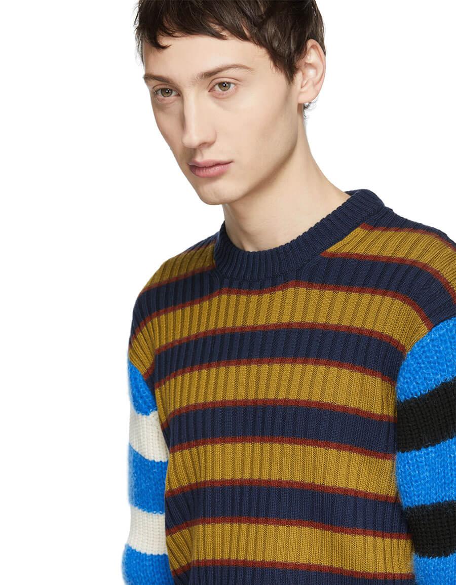 KENZO Multicolor Colorblock Striped Memento Sweater
